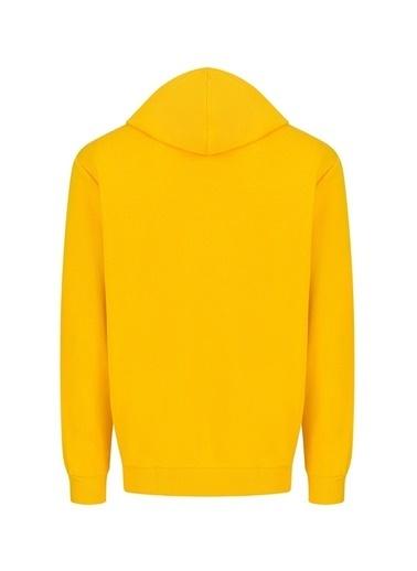 Puma Puma Kapüşonlu Baskılı Erkek Sweatshırt Sarı